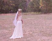 Bohemian Wedding Dresses Maxi Dress Crochet Lace White Two Piece White ...