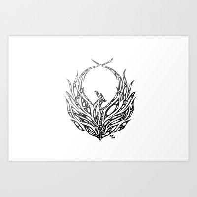 Phoenix Bird Art Print by Rucifer - $15.60