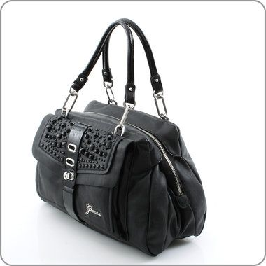 GUESS ONLINESHOP : Kollektion Annalena - Tremont Satchel Marble - Black