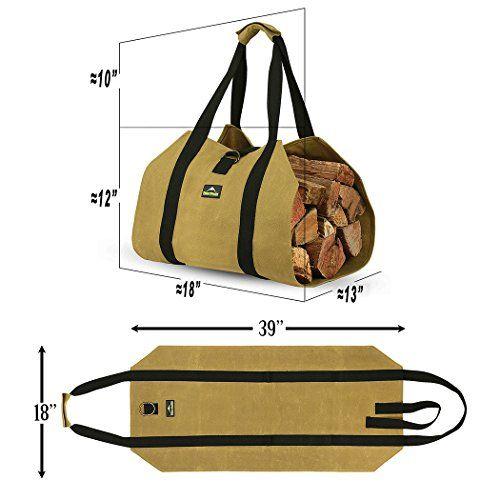 Forestwonder Log Carrier Firewood Tote Wood Carrying Bag For