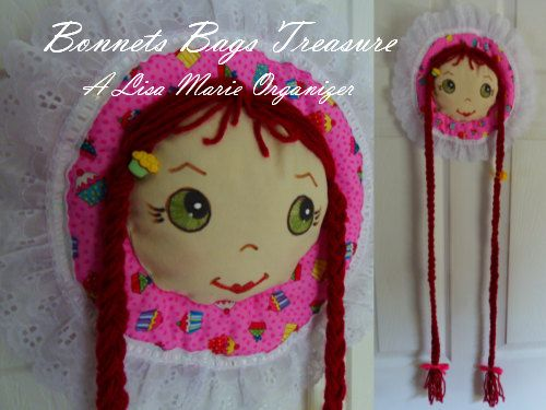BARRETTE HOLDER Organizer green eyes dark by BonnetsBagsTreasures, $15.00