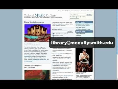 Oxford Music Online - An Introduction (Video Tutorial in 1.5 minutes!)