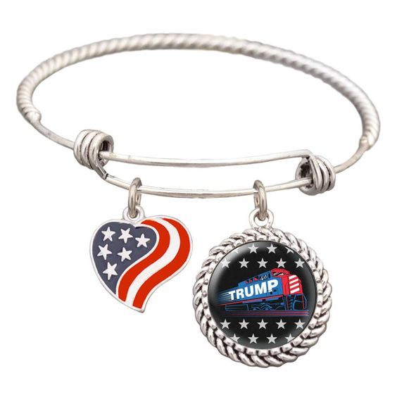 <p>The perfect bracelet for true supporters on the Trump Train! Wear this…