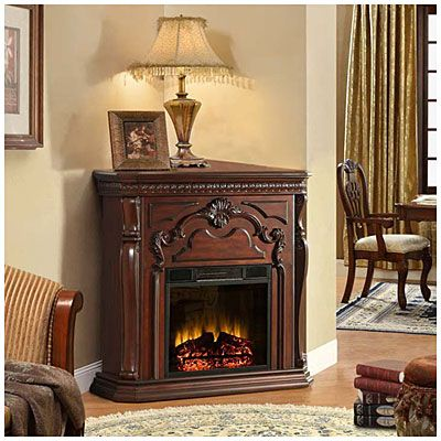 42 corner cherry electric fireplace at big lots i want for Bedroom electric fireplace