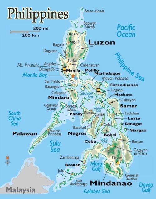Philippines Map Travel Souvenir Flexible Fridge Magnet
