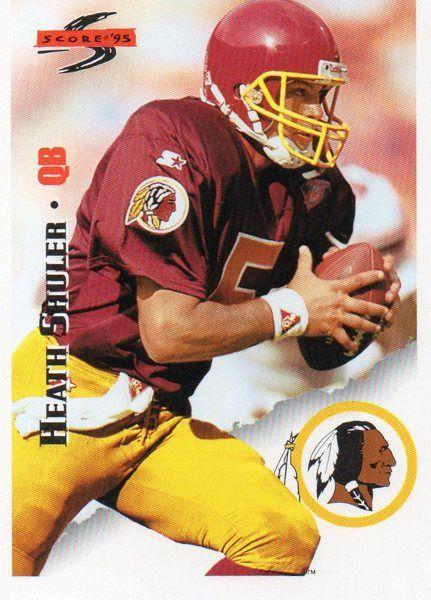 1995 Score/Pinnacle Brand Football Card Redskins Heath Shuler