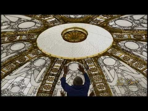 Stained glass dome in progress - skylight Installation by France Vitrail International - YouTube