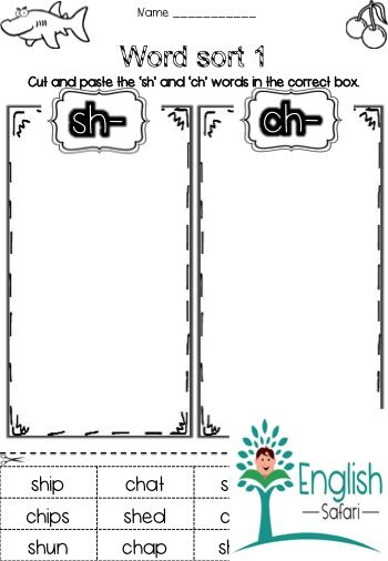 Free Word Sort For Digraph Sh And Ch Word Sorts Ch Words Sh Words Sh and ch worksheets