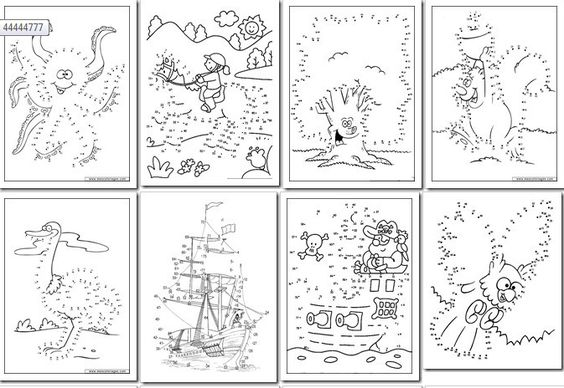 Numeros Para Colorear En Linea Fichas Para Unir Puntos Y: 90 Dibujos Para Imprimir Y Unir Puntos