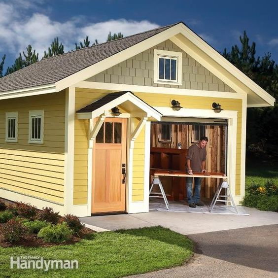 Sheds shed plans and the family handyman on pinterest for Handyman plans