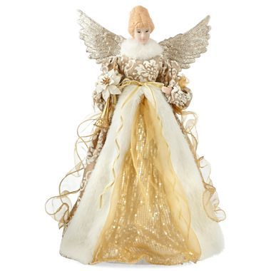 Christmas angels tree toppers and angel on pinterest for Angel christmas tree decoration