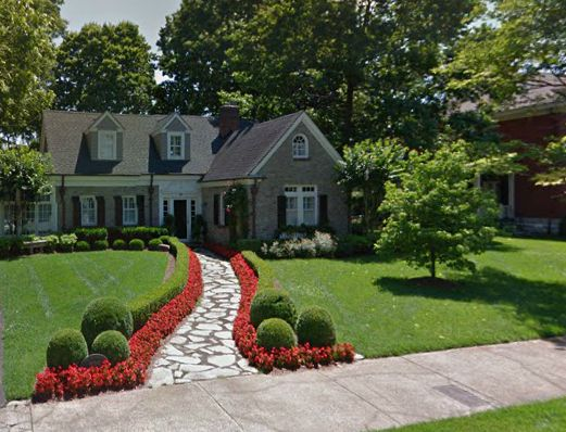 Landscaping Ideas For Front Of House Cape Cod : Beautiful stacked stone cape cod home in franklin tn
