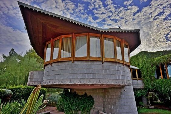 The home Frank Lloyd Wright built for his son in East Phoenix, Ariz., is one of many historic homes to hit on self-guided tours.