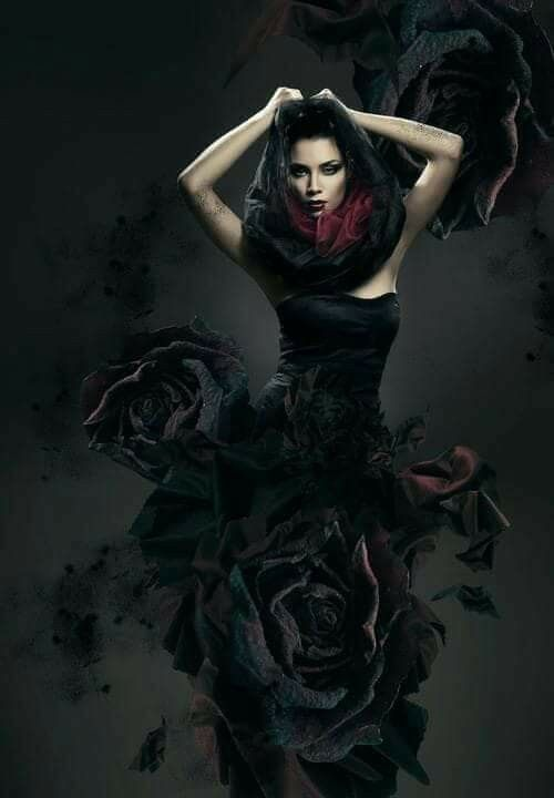 Dark beauty Gothic fantasy art Dark fantasy art Dark angel