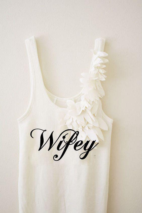 Wifey Bride Bridal Shower Shirt Flower Petals Wedding Tank Top on Etsy, $25.00