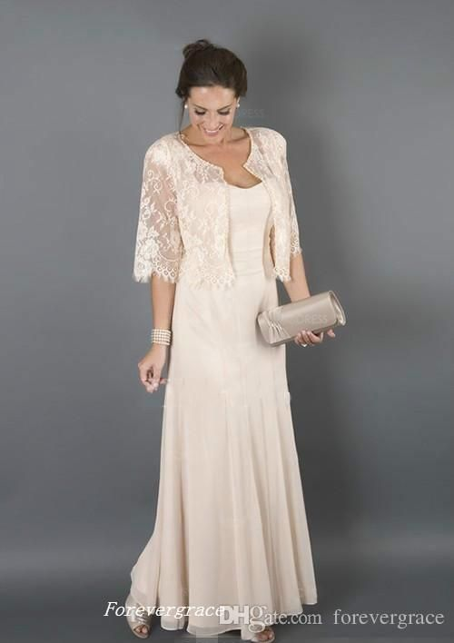 Elegant Champagne Colour With Jackets Mother Of The Bride Dresses Formal Godmother Women Evening Wedding Guest Dresses Mother Of Groom Dresses Mothers Dresses