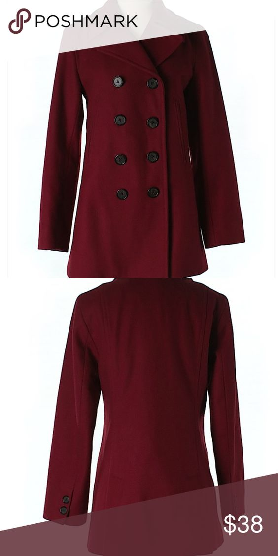 Sold J crew wool coat with thinsulate | Coats Pea coat and Wool