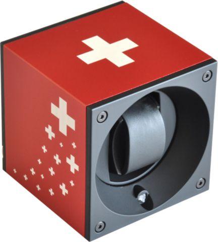 Swiss Kubik - aluminum Watch Winder- LE Swiss Flag I Croix Suisse