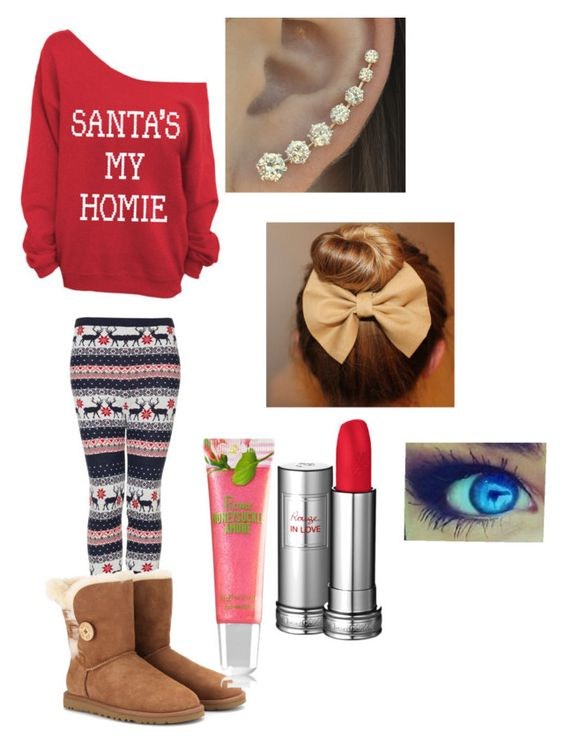 """Santa is coming"" by i-love-niall-horan-4457 ❤ liked on Polyvore featuring interior, interiors, interior design, home, home decor, interior decorating, Topshop, Lancôme and UGG Australia"