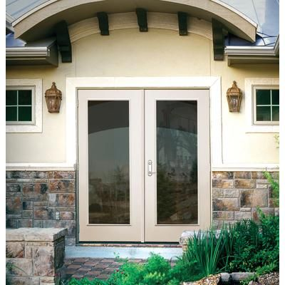 Veranda french outswing 5 inch 1 lite rh d00105 for French doors for sale at home depot