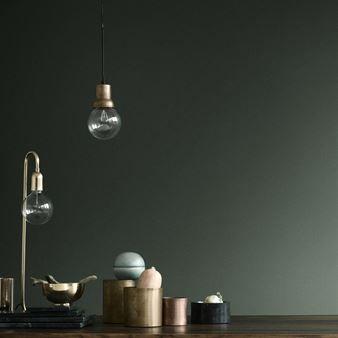 H Skjalm P bordslampa för stor glödlampa - blank mässing - H ... : bordslampa stor : Inredning