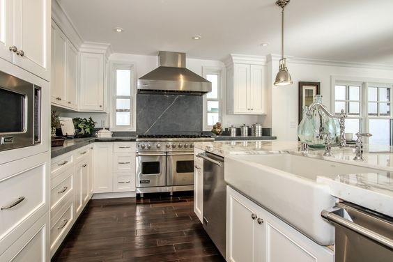 This Large Open Kitchen Has Been Upgraded With Custom Made Cabinets