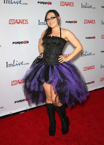 Sinn Sage arrives at the 2015 Adult Video News Awards at the Hard Rock Hotel & Casino on January 24, 2015 in Las Vegas, Nevada.