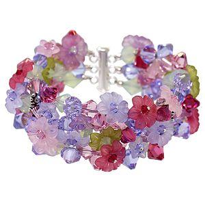 DIY Spring Flower Bracelet   Giverny in Crystals Bracelet   Fusion Beads