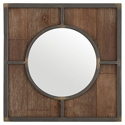 Stone Beam Round Wood Quadrant Mirror 15 H Dark Wood Https Www Amazon Com Dp B071hbbdz1 Ref Cm Sw R Pi Hanging Wall Mirror Mirror Round Wooden Mirror