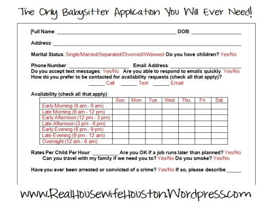 The Only Babysitter Application You Will Ever Need The o