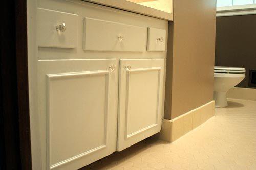 add trim to flat kitchen cabinet doors 1