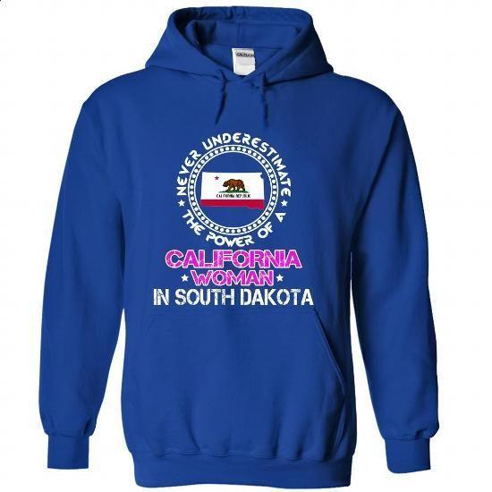 The power of a California woman in South Dakota - #pink tee #sweater diy. PURCHASE NOW => https://www.sunfrog.com/States/The-power-of-a-California-woman-in-South-Dakota-ibisxkvyzf-RoyalBlue-22433018-Hoodie.html?68278