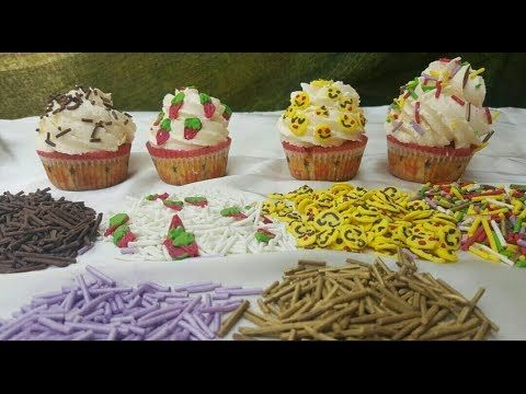 حبيبات السكر الملونة لتزيين الحلويات Youtube Food Desserts