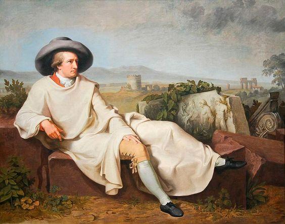 Goethe nella campagna romana 1787 Francoforte Städelsches Kunstinstitut