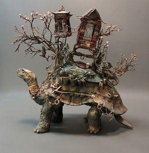 Ellen Jewett Natural History Surrealist Sculpture ~ Tortoise