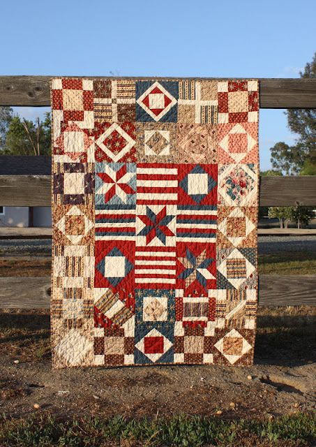 This is supposedly a Summer Civil War Sampler, but I'm not sure about that. Looks a bit too organized for a 19th century quilt.