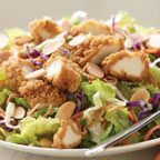 Top-secret Applebee's Oriental Chicken Salad. My favorite salad dressing! Instead of the fried/breaded chicken I prefer grilling the chicken.