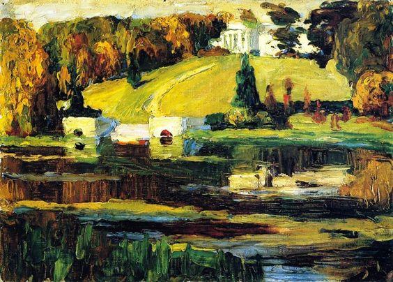 Vasilij Kandinskij - Sketch for Akhtyrka, Autumn, 1901 #arte