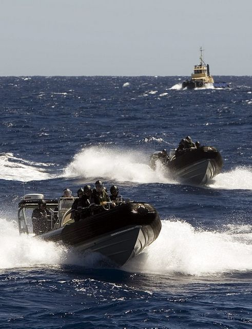 Royal Australian Navy participate in boarding training by Aust Defence Force, via Flickr