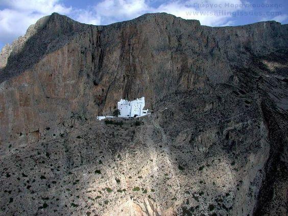 Amorgos monastery. Greece.