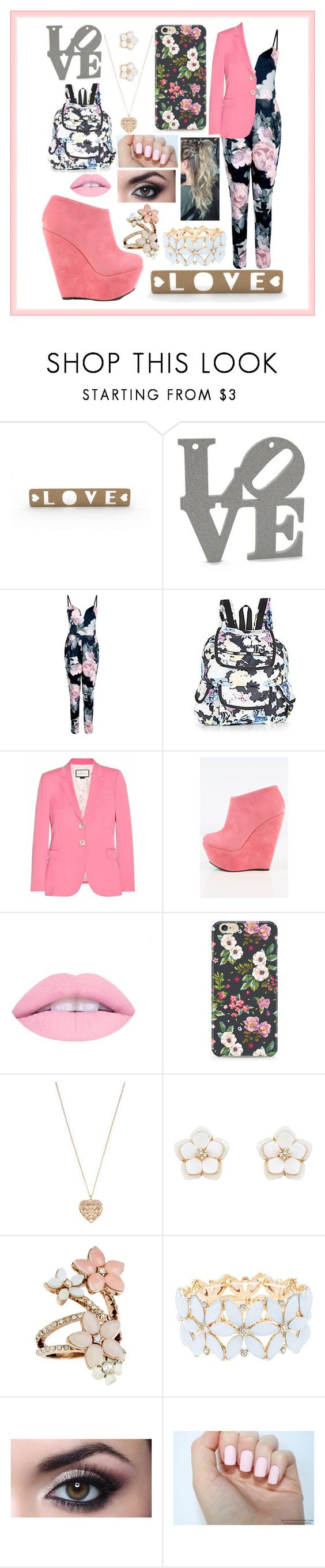 """""""Love In High School"""" by sodenoshirayuki-kuran ❤ liked on Polyvore featuring Boohoo, LeSportsac, Gucci, Accessorize and Charlotte Russe"""
