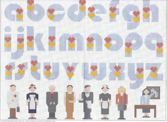 Artes de Maria Helena: alfabeto de corações