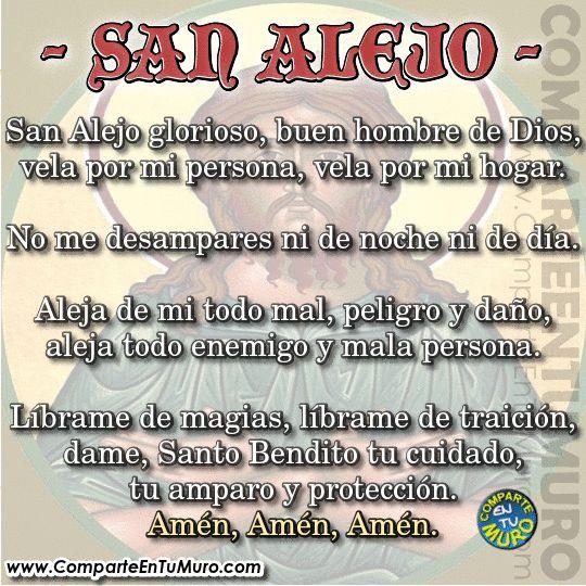 Oraci n a san alejo contra enemigos ocultos comparte a - Como alejar la mala vibra de una persona ...