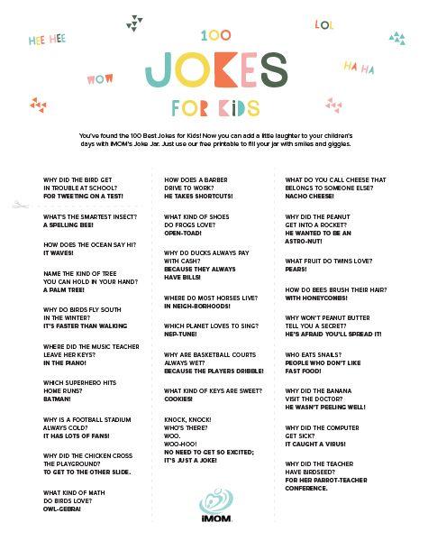 100 Hilarious Jokes For Kids Imom Jokes For Kids Funny Jokes For Kids Jokes