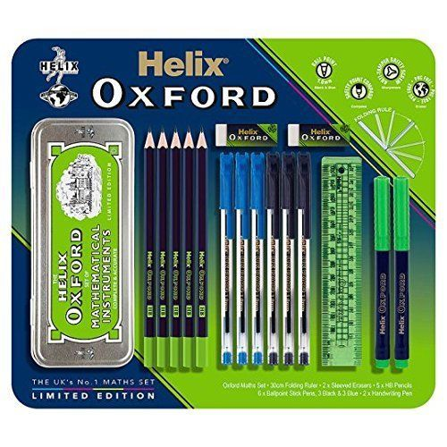 Large Maths Set Includes 2 X Sleeved Erasers 2 X Handwriting Pens