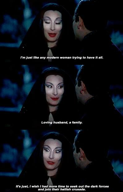 Morticia addams, Modern women and I wish on Pinterest