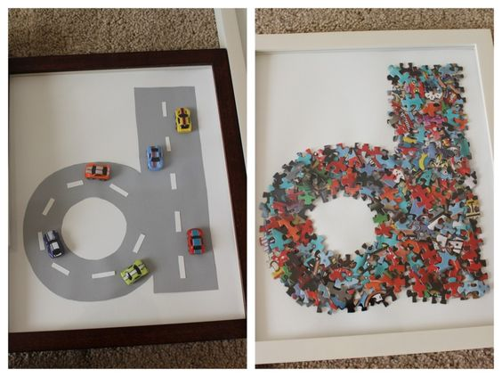 Display baby's name in the nursery - each letter in a fun, unique way! #walldecor #nursery