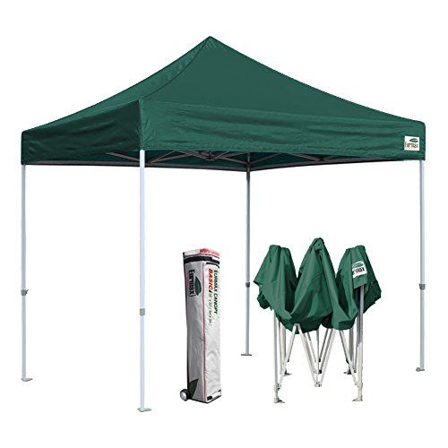 Eurmax 10 X10 Ez Pop Up Canopy Tent Commercial Instant Shelter With Heavy Duty Roller Bag Forest Green Shade Techos Carpa