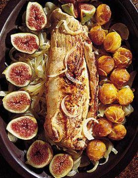 filets mignons de porc aux mirabelles et aux figues.