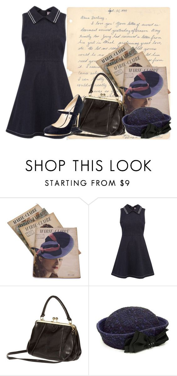 """40s fashion"" by mari-marishka ❤ liked on Polyvore featuring RED Valentino, CA4LA and KORS Michael Kors"